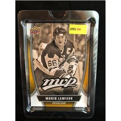 MARIO LEMIEUX 2013-14 MVP UD SERIES 1 OVERSIZED CARD SILVER SCRIPT