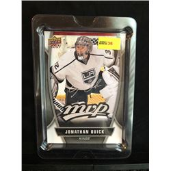JONATHAN QUICK 2013-14 MVP UD SERIES 1 OVERSIZED CARD SILVER SCRIPT