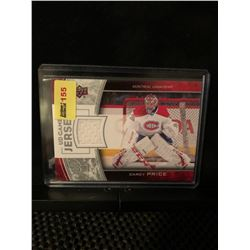 CAREY PRICE 2013-14 UD GAME JERSEY SERIES 1