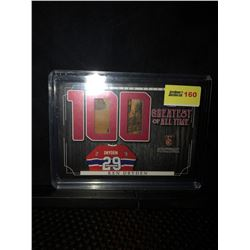 KEN DRYDEN 2017 ITG 100 GREATEST OF ALL TIME GAME USED STICKS STICKWORK CARD 9/9