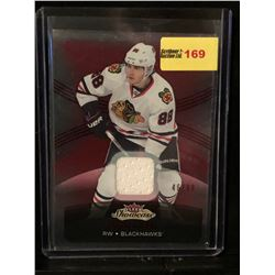 PATRICK KANE 2015-16 FLEER SHOWCASE JERSEY RED GLOW 46/99
