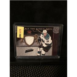 JOE THORNTON 2011 PANINI GAME WORN MATERIALS-CROWN ROYALE-ALL THE KING'S MEN