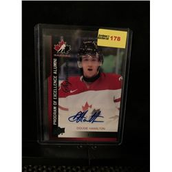 DOUGIE HAMILTON 2013 UD TEAM CANADA SIGNATURES PROGRAM OF EXCELLENCE ALUMNI 013/175