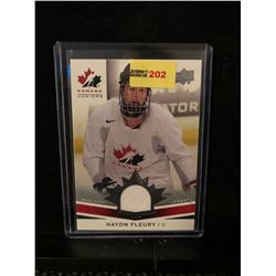 HAYDN FLEURY 2014 UD TEAM CANADA JUNIORS GAME USED JERSEY