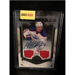 NAIL YAKUPOV 2015-16 ARTIFACTS AUTOGRAPH & GAME WORN JERSEY 25/49