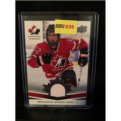MEAGAN MIKKELSON 2014 UD TEAM CANADA WOMEN GAME USED JERSEY