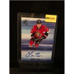 CURTIS LAZAR 2015-16 SP SIGN OF THE TIMES AUTOGRAPH