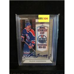 GLENN ANDERSON 2013 NHL STANLEY CUP CHAMPIONS 89-90 BANNER AUTOGRAPH 07/25