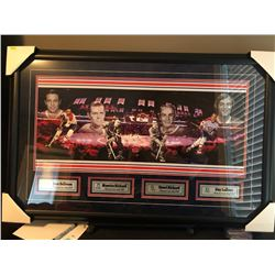 20X32 FRAMED MONTREAL CANADIENS HHOF INDUCTEES JEAN BELIVEAU, MAURICE RICHARD, HENRI RICHARD AND GUY