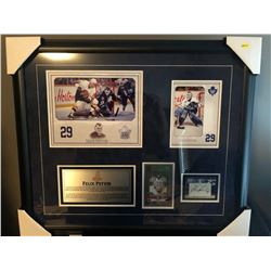20X24 TML FELIX POTVIN PAPERCUTS AUTOGRAPHED CARD & ITG ULTIMATE 2012/13 12TH EDITION CARD W/4X8 CUS