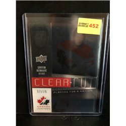 GRIFFIN REINHART 2014 UD TEAM CANADA JUNIORS CLEAR CUT PLAYING FOR A NATION 57/75