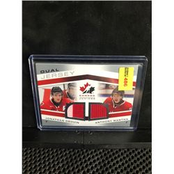 JONATHAN DROUIN/ANTHONY MANTHA 2014 UD TEAM CANADA JUNIORS DUAL JERSEY