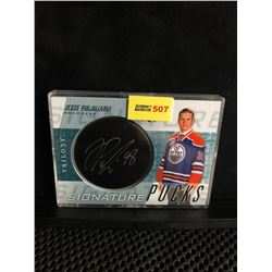 JESSE PULJUJARVI 2016-17 TRILOGY SIGNATURE PUCKS