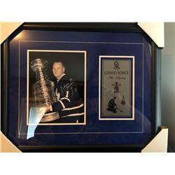16X20 FRAMED TML HOF 76 JOHNNY BOWER AUTOGRAPHED W/4X8 CUSTOM NAME PLATE