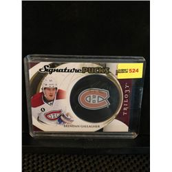 BRENDAN GALLAGHER 2015-16 TRILOGY SIGNATURE PUCKS