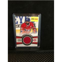 P.K. SUBBAN 2015-16 UD GAME JERSEY SERIES 1
