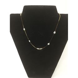 14kt G.P Necklace w/ Freshwater Pearls