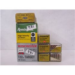 22CAL SHORT AND LONG RIFLE AMMUNITION