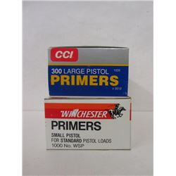 LARGE RIFLE AND SMALL PISTOL PRIMERS