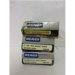 WEAVER SCOPE RINGS