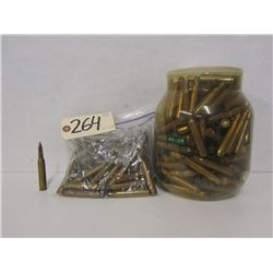4.28KG OF 30-06 SPRG BRASS & ONE LIVE ROUND