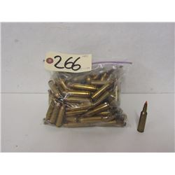 1.82KG OF 22-250 REM BRASS AND ONE LIVE ROUND