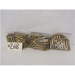 2.44KG OF RESIZED 8MM REM MAG BRASS
