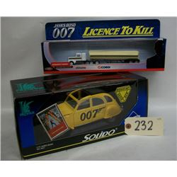James Bond Tanker and Citroen Die Casts