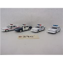 Road Champs 1:43 Diecast Police Cars (8pcs)