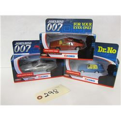 Corgi The Ultimate Bond Collection,diecast , (3pc)