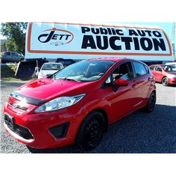 B4---2012 FORD FIESTA SE HATCHBK, RED, 164,294 KMS