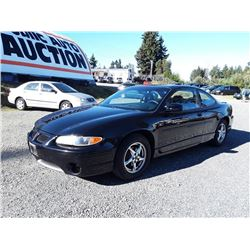 A2---2002 PONTIAC GRAND PRIX GT COUPE, BLACK, 167,756 KMS