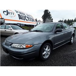 C4---2004 OLDSMOBILE ALERO GL SEDAN, GREY, 186,922 KMS