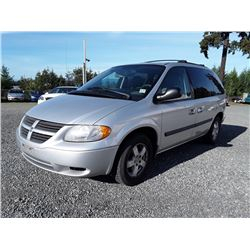 B2---2006 DODGE CARAVAN SE, GREY, 228,173 KMS
