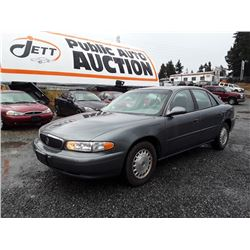D4---2004 BUICK CENTURY SEDAN, GREY, 189, 849 KMS