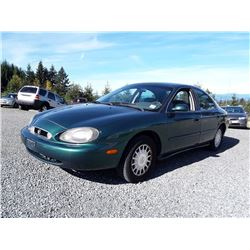 A5---1999 MERCURY SABLE GS SEDAN, GREEN, 142,957 KMS