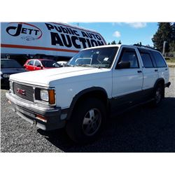 A6 -- 1991 GMC JIMMY SUV, WHITE, 216,384 KMS