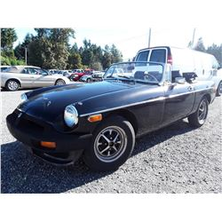 D1 -- 1975 MG MGB CONVERTIBLE, BLACK, 145,311 KMS