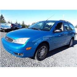 D3 -- 2007 FORD FOCUS SES WAGON, BLUE, 114,043 KMS