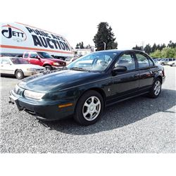 D6---1996 SATURN S12 SEDAN, GREEN, 131,342 KMS