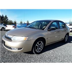 E3 -- 2003 SATURN ION SEDAN, BROWN, 188,297 KMS