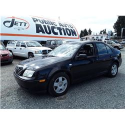 E4---2002 VW JETTA SEDAN BLACK, 185,453