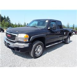 M3---2006 GMC SIERRA EXT CAB, BLUE, 191,981 KMS