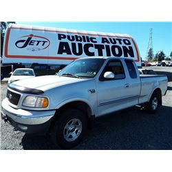 G4---2002 FORD F150 EXT CAB 4X4, TRUCK, SILVER, 172696 KM'S