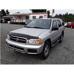 H1---2002 NISSAN PATHINDER LE 4X4, GREY, 305 887KM.