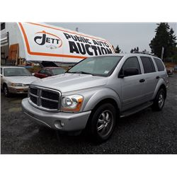 I1---2006 DODGE DURANGO LTD SUV, GREY, 277,323 KMS