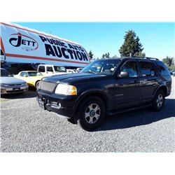 I6---2002 FORD EXPLORER SUV, BLACK, 250,195 KMS
