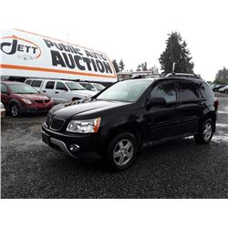 J6---2006 PONTIAC TORRENT SUV, BLACK, 238,814 KMS