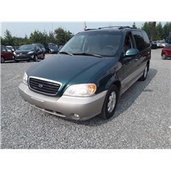 H6---2003 KIA SEDONA, SUV, GREEN, UNKNOWN