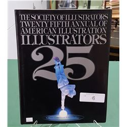 25TH ANNUAL AMERICAN ILLUSTRATORS HARD COVER BOOK